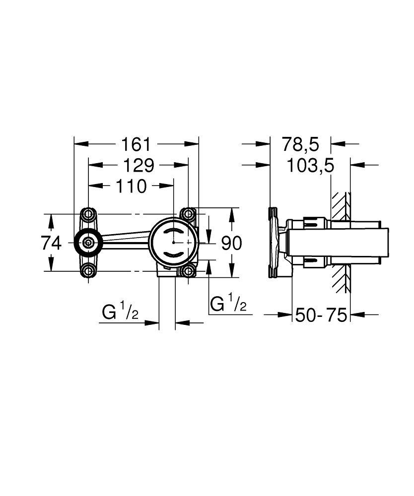 GROHE Joystick Unterputz-Einbaukörper, DN 15
