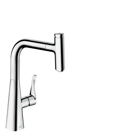 Hansgrohe Metris Select M71 Einhebel Küchenmischer 240 mit Ausziehauslauf