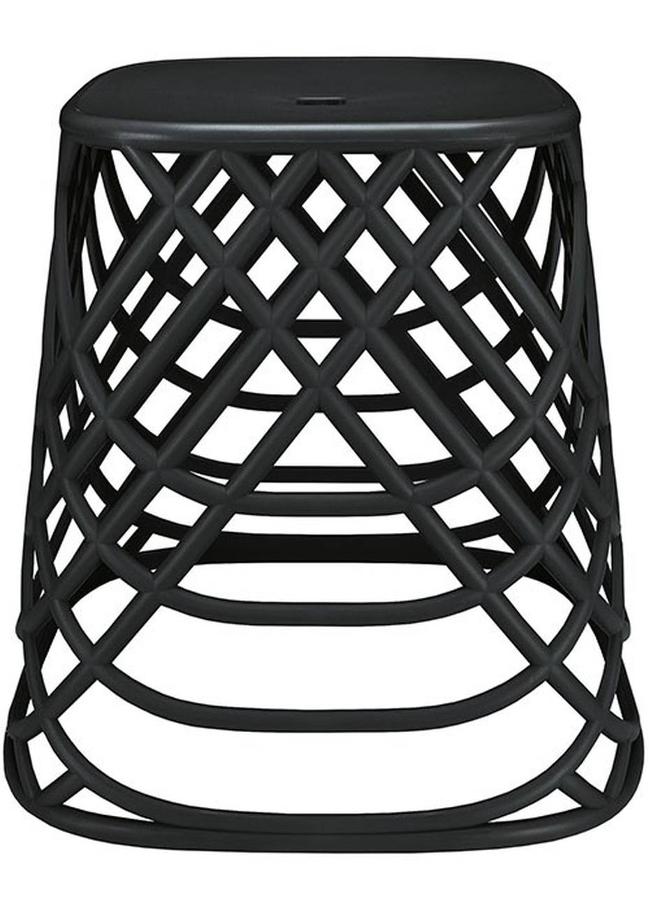Hocker Scandic Chair Polypropylen Schwarz 43,5x43x43,5cm BxHxT