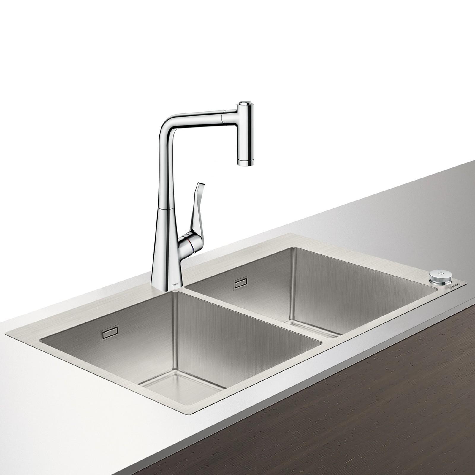 HG Select Spülencombi 370 x 370 chrom