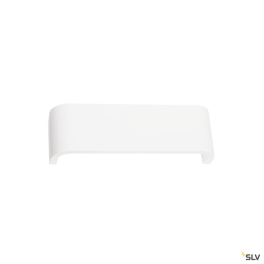 MANA, Leuchtenschirm B/H/T 30,9/9,5/7,4 cm, Gips, weiß