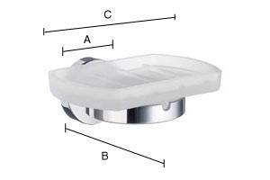 SMEDBO HOME Bad Seifenschalenhalter mit mattem Glas Mattverchromt