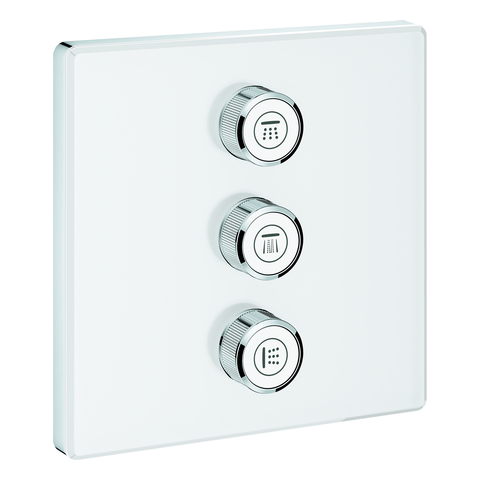 GROHE 3-fach UP-Ventil Grohtherm Smart Control29158 eckig FMS moon white