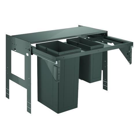GROHE Mülltrennsystem GROHE Blue 40982 90cm zweifach 1 x 11 - 1 x 29 Liter grau