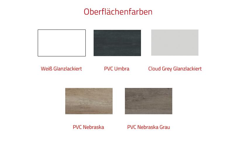 Thielsch Badmöbel Soul Set 120 cm PVC Nebraska exkl. Wandschrank
