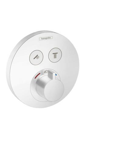 HG Thermostat Unterputz ShowerSelect S Fertigset 2 Verbraucher mattweiss