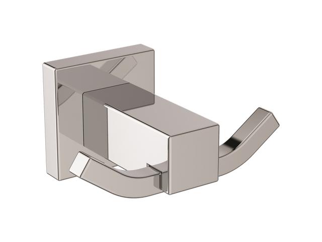 IS Doppelter Handtuchhaken IOM Cube Chrom