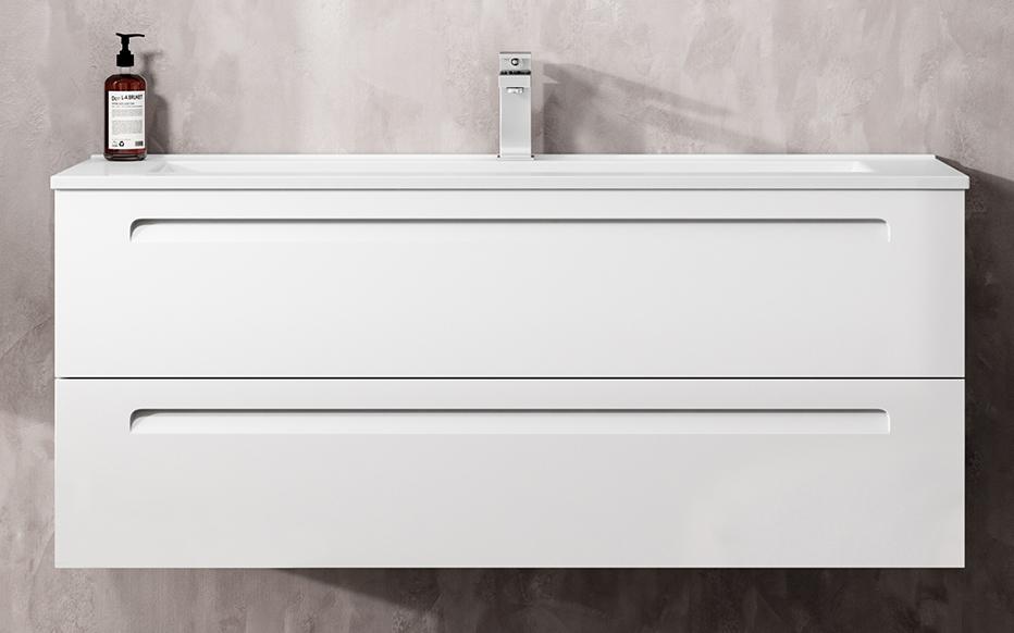 Thielsch Badmöbel Soul 120 inkl. Waschtisch PVC Umbra