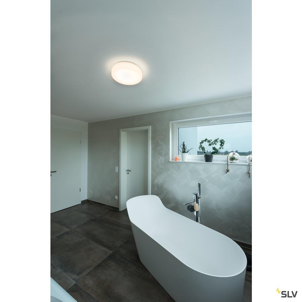LIPSY 40 Drum CW, LED Outdoor Wand- und Deckenaufbauleuchte, weiß, IP44 3000/4000K