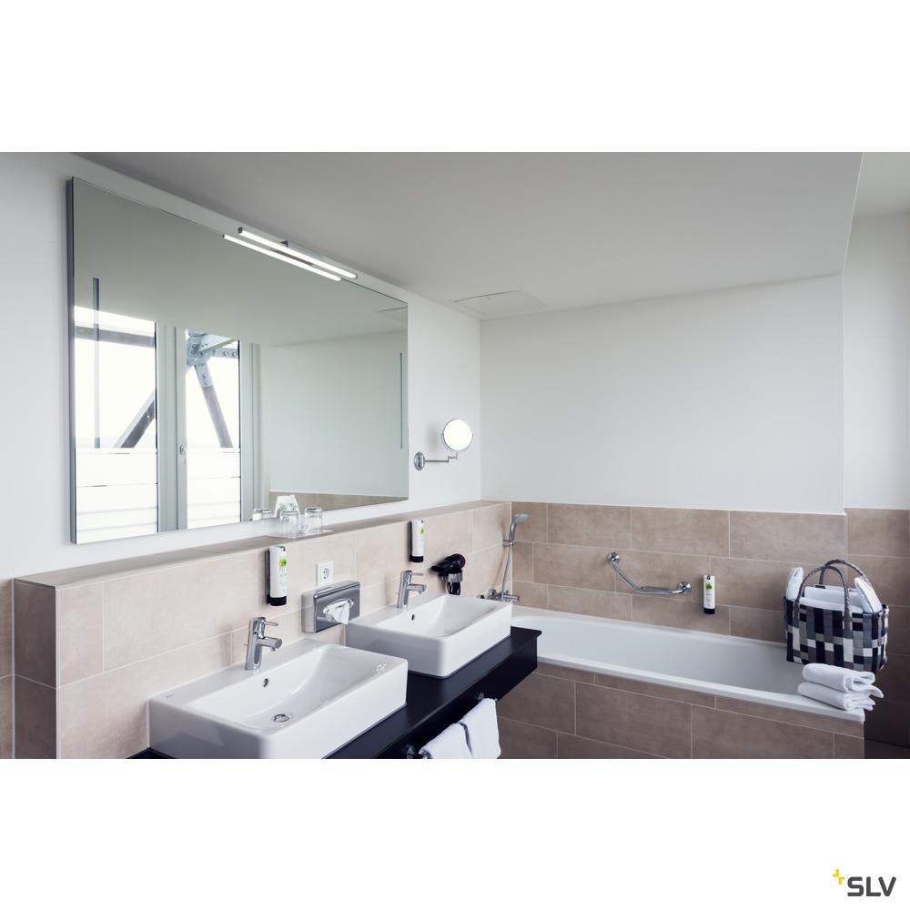 GLENOS® 60, Indoor LED Spiegelleuchte grau CCT switch 3000/4000K