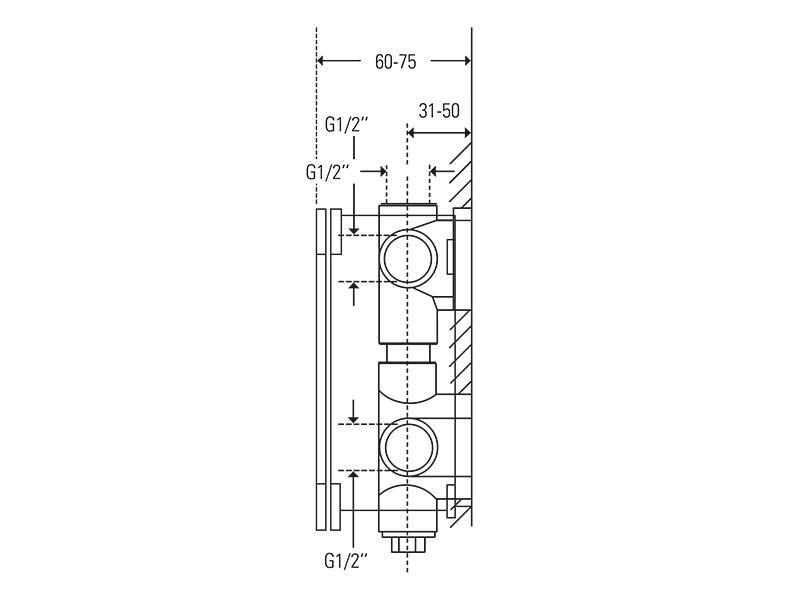 Treos Unterputz Einbaukörper für Thermostat