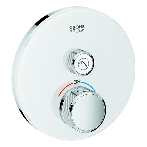 GROHE THM Grohtherm SmartControl 29150 rund FMS 1 Absperrventil moon white
