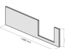 HSK DuschWanne Dobla Frontschürze, Einstieg rechts - B170