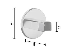 SMEDBO DRY Bad Montage-Kit für versteckten Elekroanschluss, passend für FK716 Edelstahl poliert