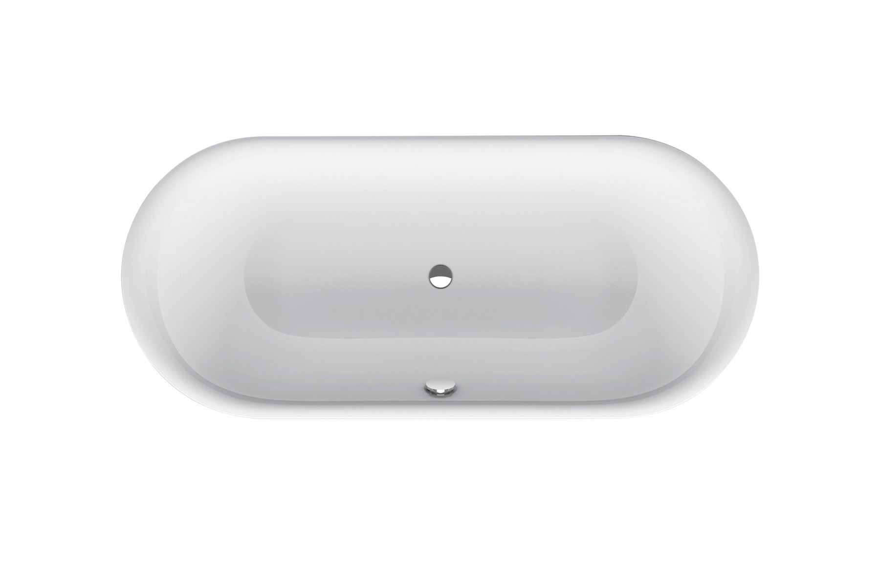 Bette Lux Oval - 1800×800 mm Weiß exkl. Antirutsch exkl. Wannenträger