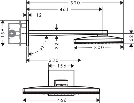 HG Kopfbrause Rainmaker Select 460 2jet