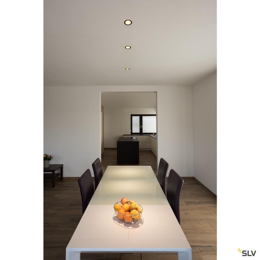 HORN MAGNA, LED Indoor Deckeneinbauleuchte schwarz/gold 3000K 25°