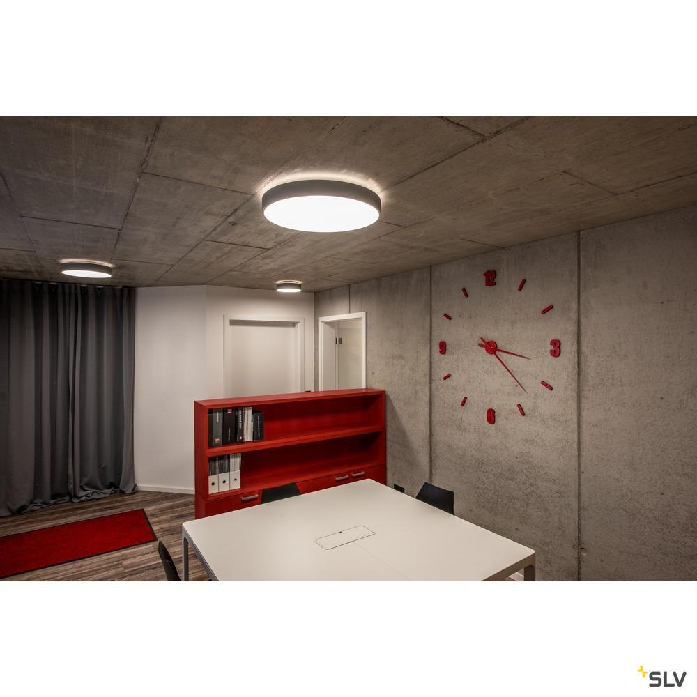 MEDO 60 CW AMBIENT, LED Indoor Wand- und Deckenaufbauleuchte, TRIAC, silbergrau 3000/4000K