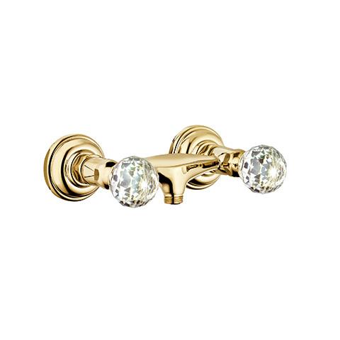 KLUDI ADLON Brausearmatur Wandmontage gold/kristall