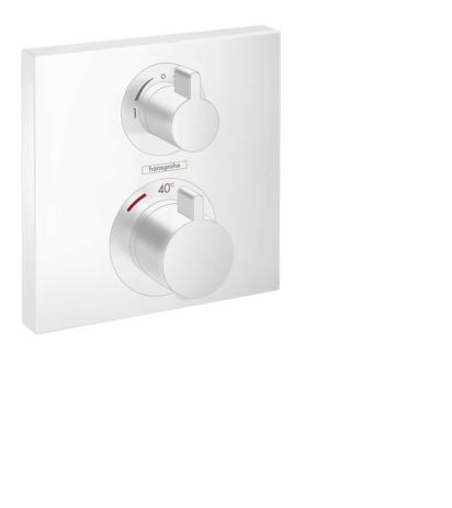HG Thermostat Unterputz Ecostat Square Fertigset 2 Verbraucher mattweiss