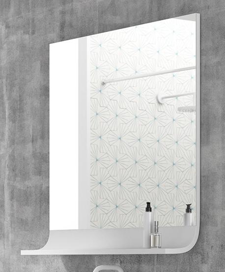 Thielsch Badmöbel Happy Spiegel 80 x 85 x 17cm, Weiß Glanzlackiert, exklusive Bewegungsmelder, ja