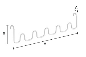 SMEDBO DRY Bad Multihaken passend zu Handtuchwärmer FK700-FK702 Edelstahl poliert