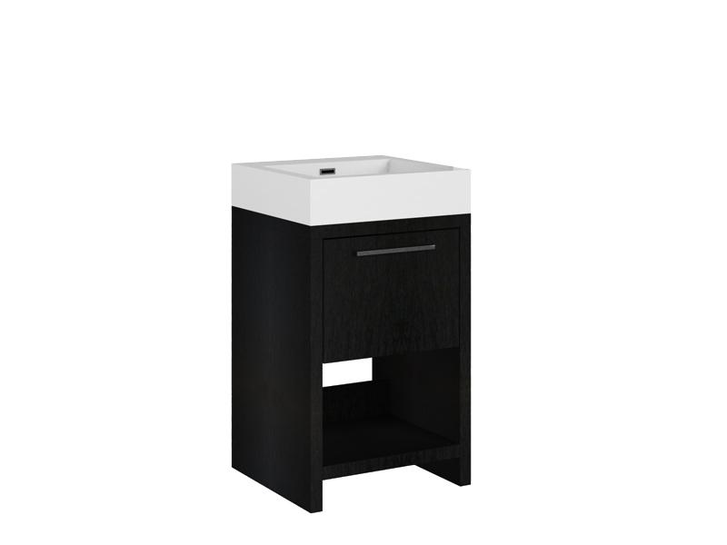 Treos Badmöbel ohne Hahnloch wood 500x480x850 mm