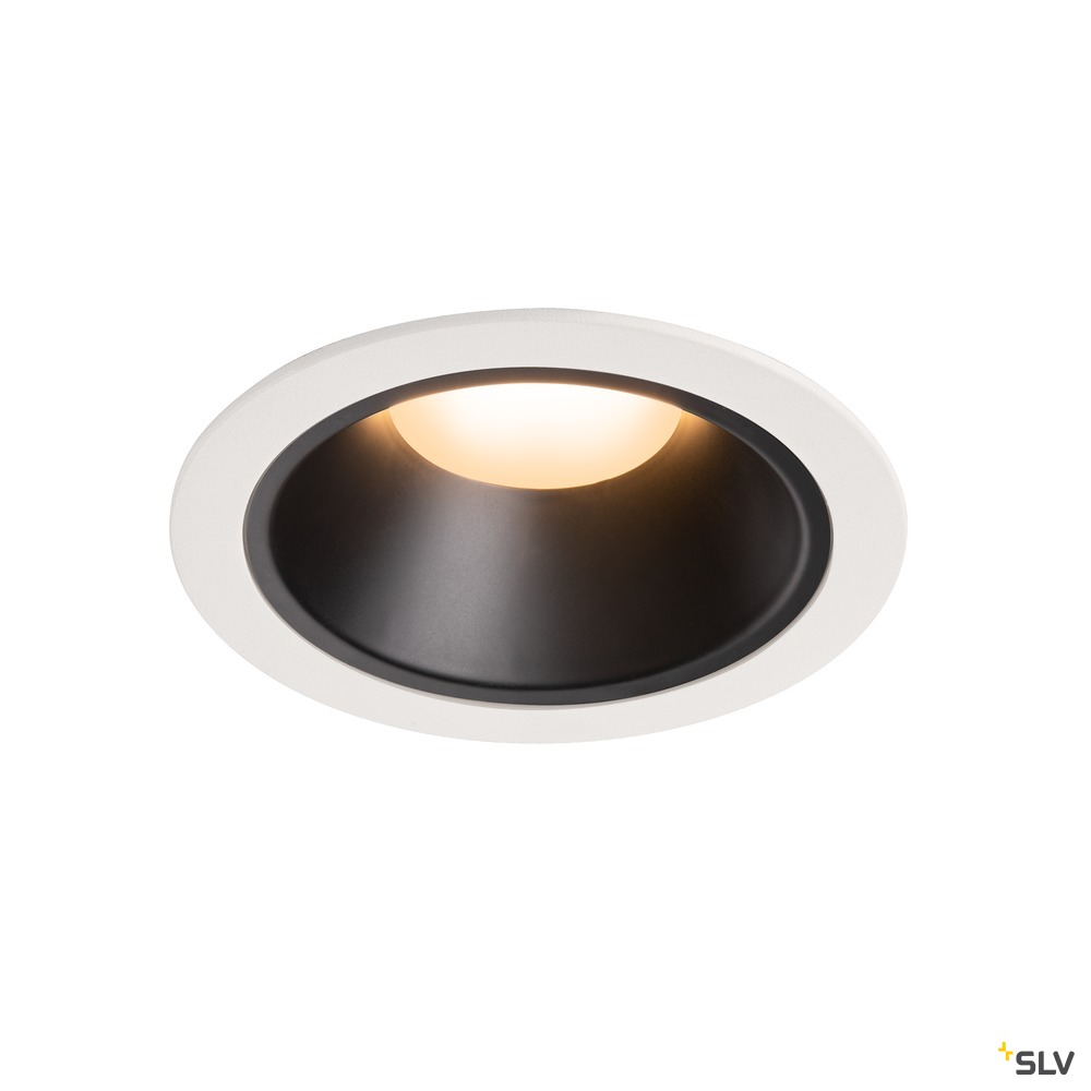 NUMINOS® DL XL, Indoor LED Deckeneinbauleuchte weiß/schwarz 2700K 20°