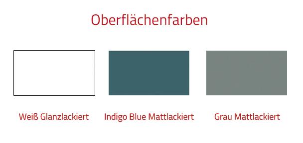 Thielsch Badmöbel Harlem Set 100 cm Grau Mattlackiert inkl. Wandschrank