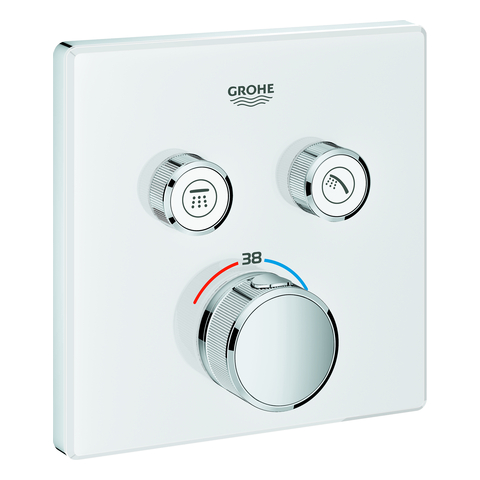 GROHE THM Grohtherm SmartControl 29156 eckig FMS 2 Absperrventile moon white