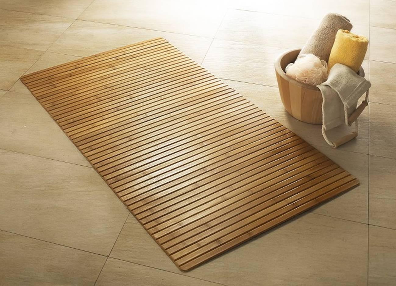 Holzmatte Bambus Bambus Natur 50x 80 cm