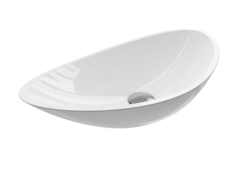 Treos Mineralguss Aufsatzwaschbecken oval